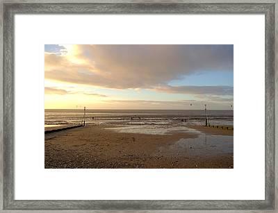 Pastel Skies Framed Print by Dave Woodbridge