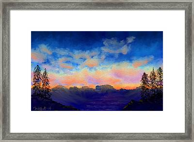 Pastel Sky Framed Print by Kerry Mitchell