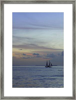 Framed Print featuring the photograph Pastel Sky by Laurie Perry