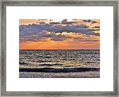 Pastel Sunset 1 Framed Print by Lisa Merman Bender