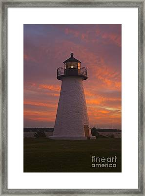 Pastel Sunset At Ned'spoint Framed Print