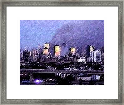 Pastel Sunset On Ground Zero Framed Print