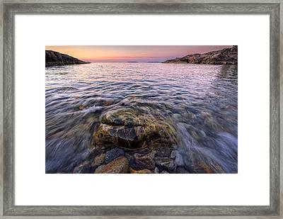 Pastel Tide Framed Print by Rick Berk