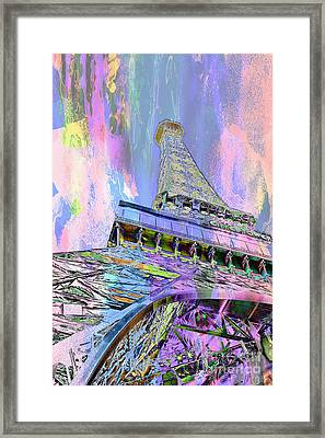 Pastel Tower Framed Print by Az Jackson