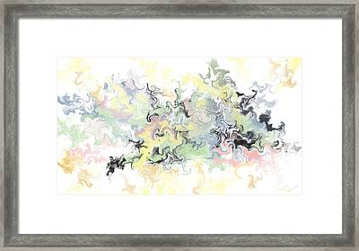 Pastels Gone Mad Framed Print