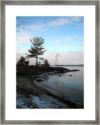 Pastels On Ice Framed Print