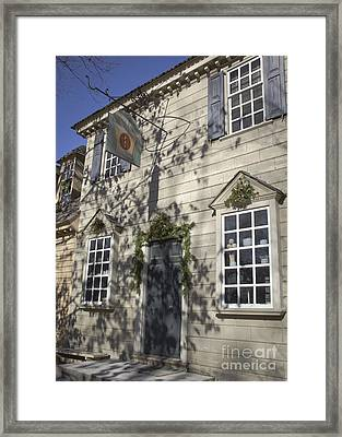 Pasteur And Galt Apothecary Williamsburg Virginia Framed Print