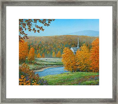 Pastoral Countryside Framed Print