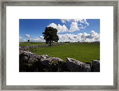 Pastoral Farmland Between Clonbur Framed Print by Panoramic Images