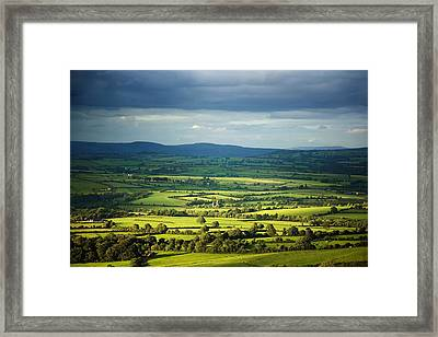 Pastoral Fields, Near Clonea, County Framed Print by Panoramic Images