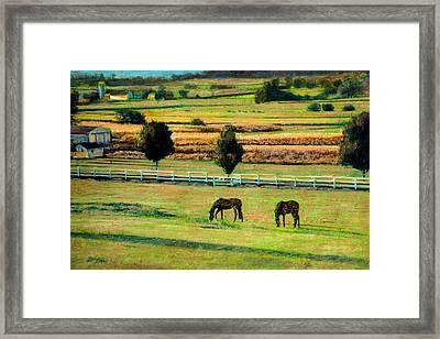 Pastoral Green Framed Print by Cindy McIntyre