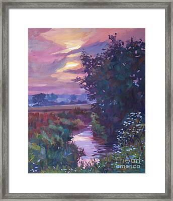 Pastoral Morning Framed Print by David Lloyd Glover