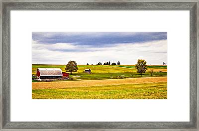 Pastoral Pennsylvania - Paint Framed Print by Steve Harrington