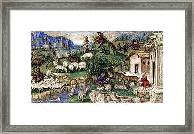 Pastoral Scenes, 15th Century Framed Print by British Library