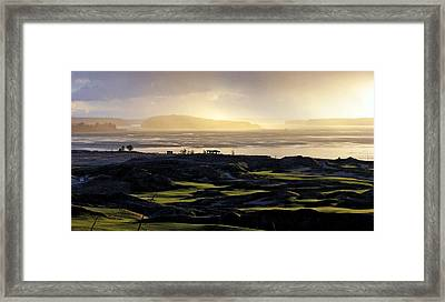 Framed Print featuring the photograph Pastoral Symphony - Chambers Bay Golf Course by Chris Anderson
