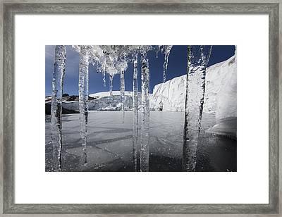 Pastoruri Glacier Icicles Cordillera Framed Print by Cyril Ruoso