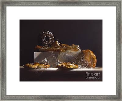 Pastry Framed Print by Larry Preston
