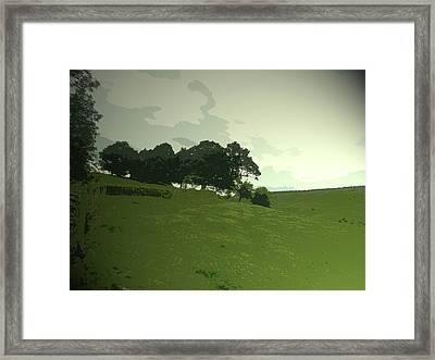 Pasture At Edale End, Looking Across Jaggers Clough Towards Framed Print by Litz Collection