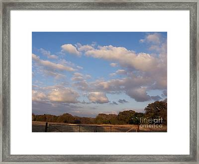 Pasture Clouds Framed Print