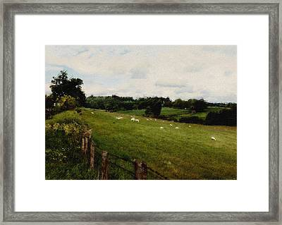 Pasture Of Plenty Framed Print by Daniel  Gundlach