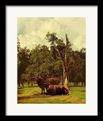 Pastureland Digital Art Framed Prints