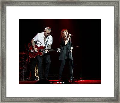 Pat Benatar And Neil Giraldo Framed Print by Michael  Wolf