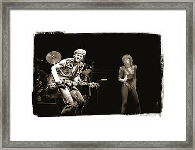Pat Benatar In Concert Bw Framed Print by Joe Myeress