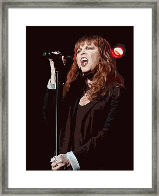 Pat Benatar Framed Print by Michael  Wolf