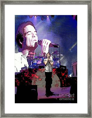 Pat Monahan Of Train Framed Print by Cindy Manero