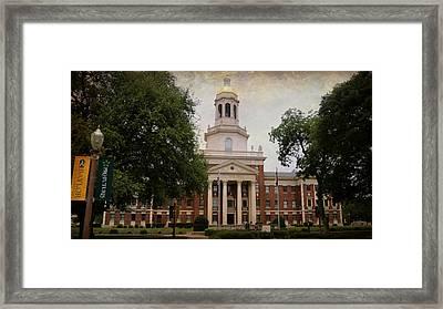 Pat Neff Hall - Baylor University Framed Print by Stephen Stookey