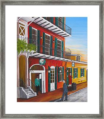 Pat O's Courtyard Entrance Framed Print
