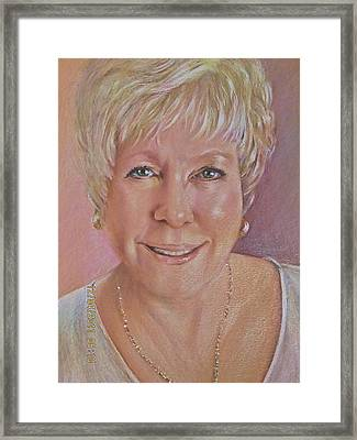 Framed Print featuring the painting Pat Self Portrait by Patricia Schneider Mitchell