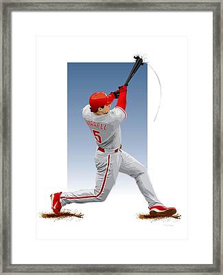 Pat The Bat Burrell Framed Print by Scott Weigner