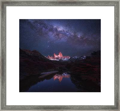 Patagonia Autumn Night Framed Print
