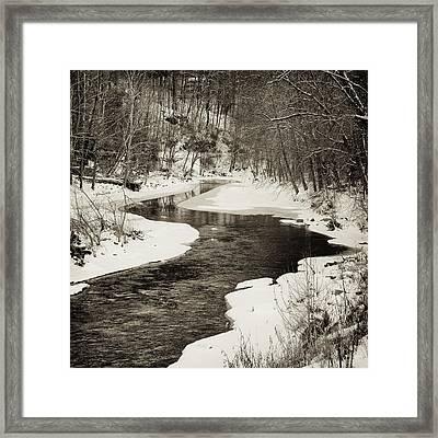 Patapsco View Framed Print by Geoffrey Baker