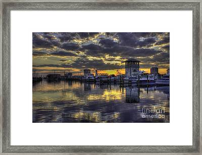 Patches In The Harbor Framed Print