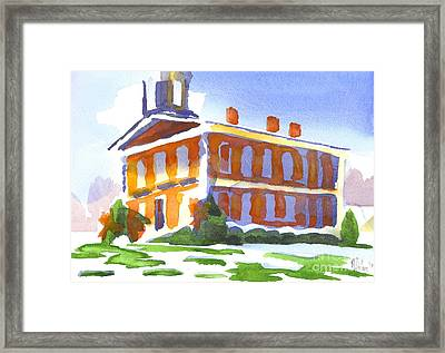Patches Of Snow Framed Print by Kip DeVore