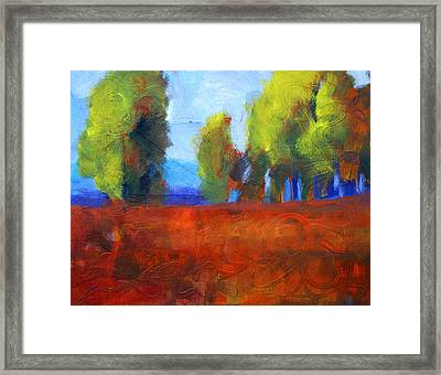 Patching The Environment Framed Print by Nancy Merkle