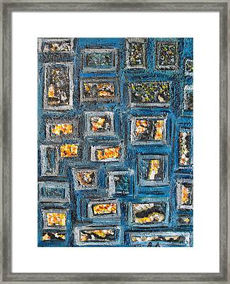 Patchwork Framed Print by Agnes Roman