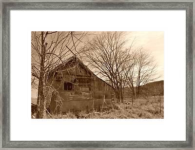 Patchwork Barn Framed Print