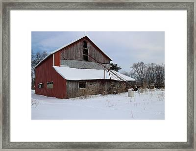Patchwork Barn Framed Print by Scott Kingery