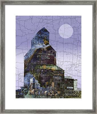 Patchwork Elevator Framed Print by Judy Wood