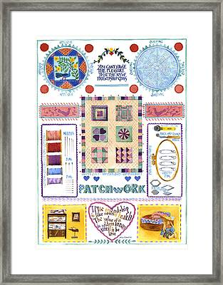 Patchwork Framed Print by Julia Rowntree