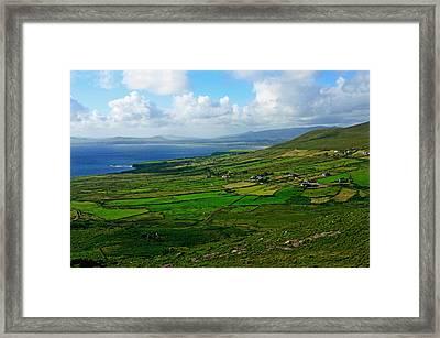 Patchwork Landscape Framed Print