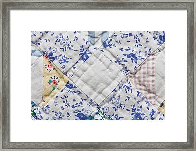 Patchwork Quilt Framed Print by Tom Gowanlock