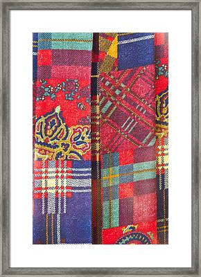 Patchwork Sheet Framed Print by Tom Gowanlock