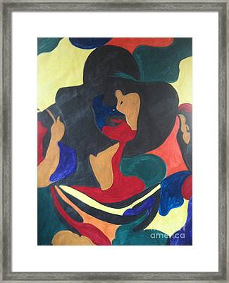 Framed Print featuring the painting Patchwork Velvet by Denise Tomasura