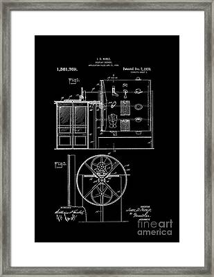 Patent Art-1920 Closet Display White Framed Print