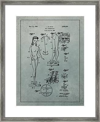 Patent Art Barbie Doll Framed Print by Dan Sproul