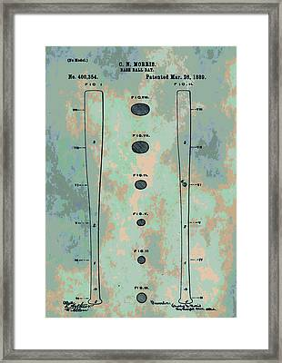 Patent Art Baseball Bat Framed Print